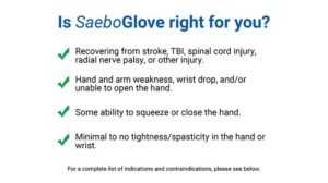 SaeboGlove Indications