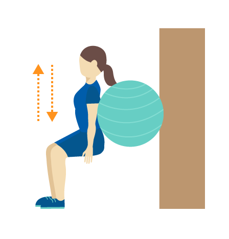 Exercise 2c: Ski Squat with Pilates Ball - Advanced Bridging Exercise Leg Exercises for Stroke Survivor Recovery