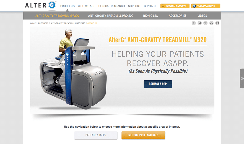Anti-gravity-treadmill stroke recovery