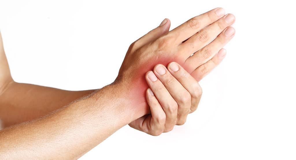 Stroke pain in hand
