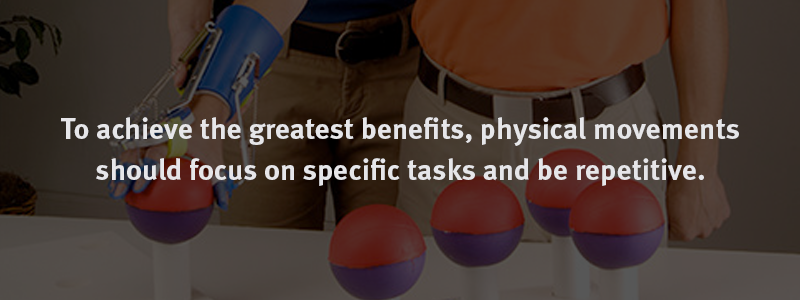 To Achieve the Greatest Benefit, Physical Movements Should Focus on Specific Tasks and Be Repetitive