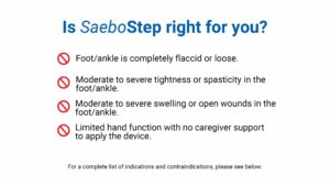 SaeboStep Contraindications