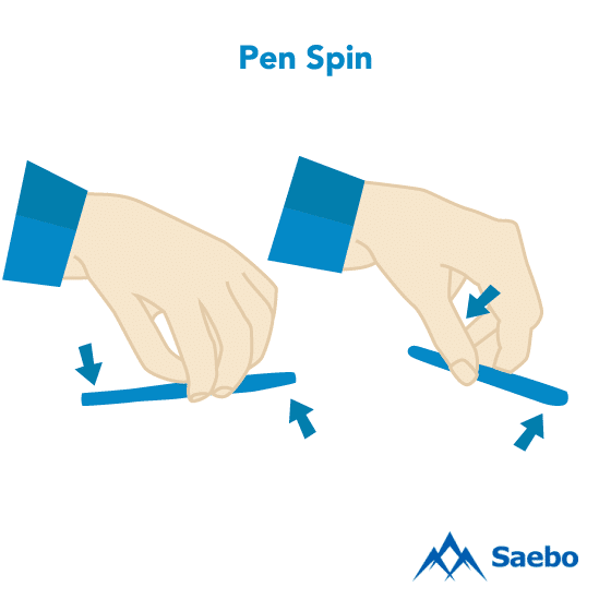 Exercise #23: Pen  Spin Exercises for Stroke Recovery Survivors & Patients at Home