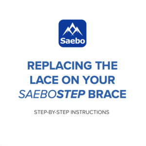 Replacing SaeboStep Lace